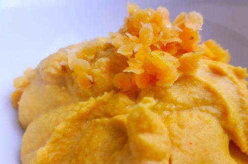 schneller, veganer Aufstrich aus Linsen mit Curry und Orangensaft