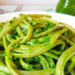 super leckere Linguine mit veganem Pesto aus Bärlauch
