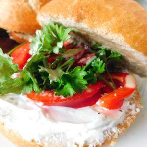 Brot vegan belegen